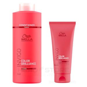 Кондиционер для  ЖЕСТКИХ окрашенных волос Wella Invigo Color Brilliance Coarse Hair Conditioner 200ml/1000ml
