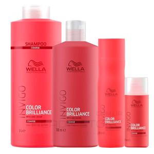 Шампунь для СИЛЬНЫХ и ЖЕСТКИХ окрашенных волос Wella Invigo Brillance Shampoo for coarse hair 50мл/250мл/500мл/1000мл