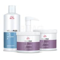 Набор Wella WellaPlex №1 эликсир-защита + №2 эликсир-стабилизатор 1*500 мл + 2*500 мл