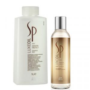 Кератинозащитный шампунь - Wella SP LUXE OIL Keratin Protect Shampoo, 200мл/1000мл